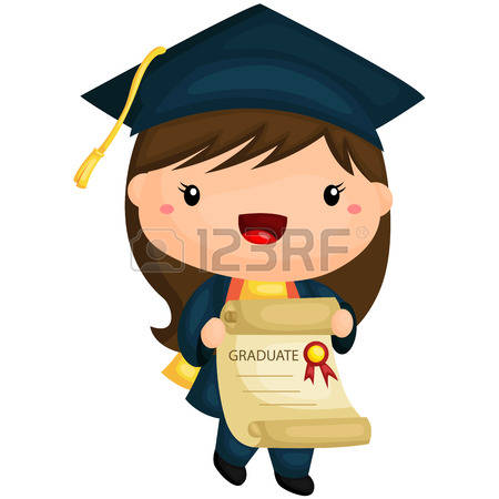 3,698 Graduation Girl Stock Vector Illustration And Royalty Free.