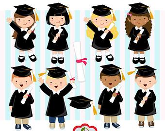 Graduation Clipart. Graduation graphics, cape, scroll, cap, class.