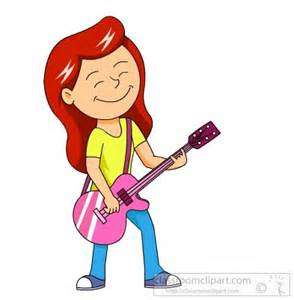 Woman Playing Guitar Clipart.