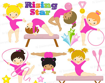 Popular items for gymnastics clipart on Etsy.