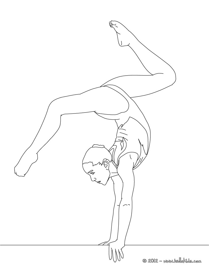 Gymnastics Clipart Black And White Clipart Panda Free Clipart.