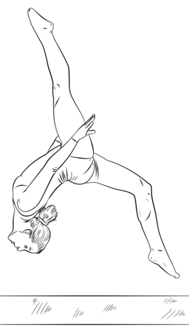 girl gymnastics clipart color pages - Clipground