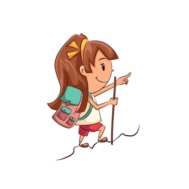 1730 Hiking free clipart.