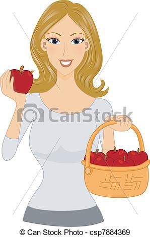 EPS Vectors of Apple Girl.