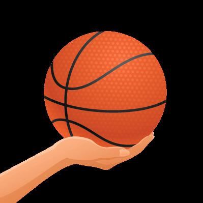 Girl with Basketball.