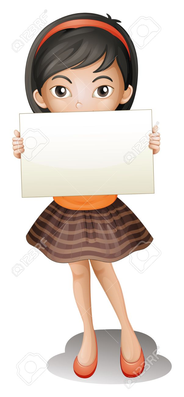 3,105 Woman Holding Paper Stock Vector Illustration And Royalty.