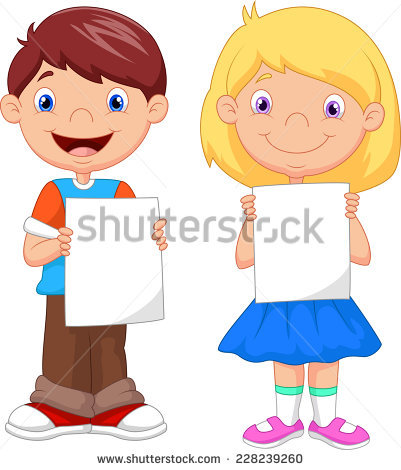 Child Holding Paper Stock Images, Royalty.