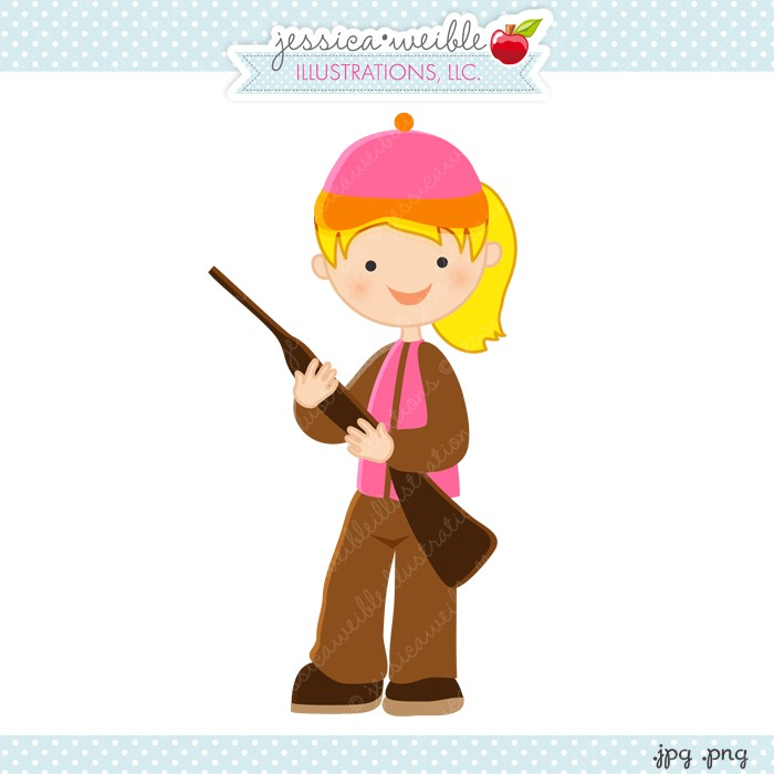 Hunter Girl Clipart & Free Clip Art Images #23546.
