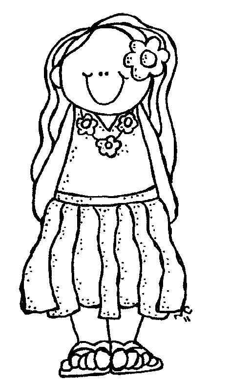 Boy Girl At The Beach Black And White Clipart.