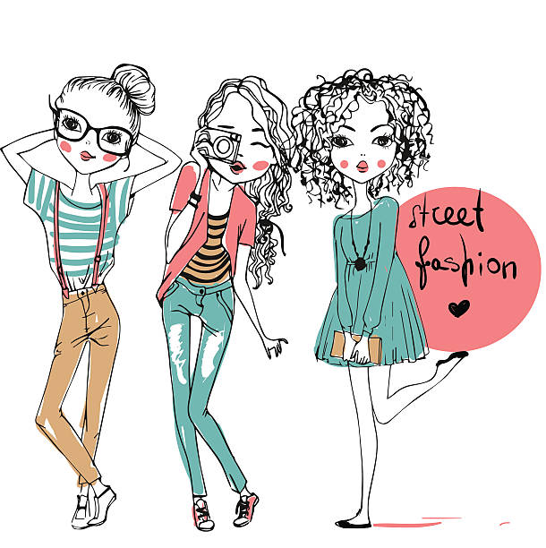 Best Teenage Girls Illustrations, Royalty.
