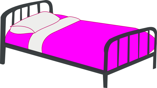 Girl In Bed Clipart.