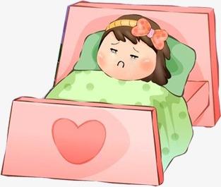 Sick Little Girl, Bed, Little Girl, Sick #75191.