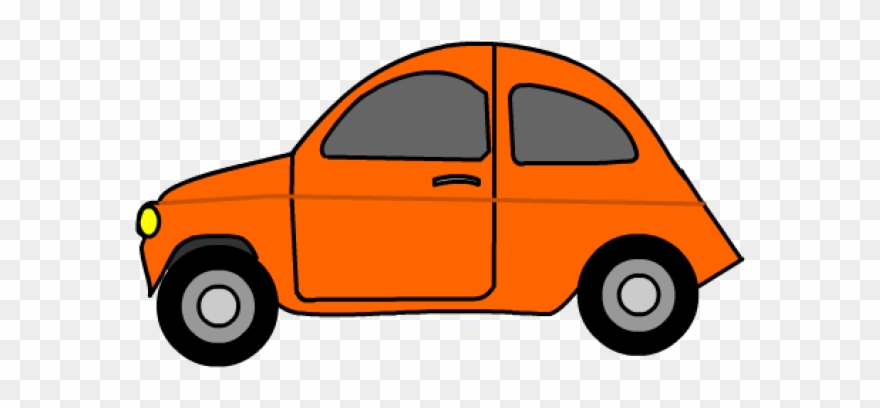 Driving Clipart Orange Car.