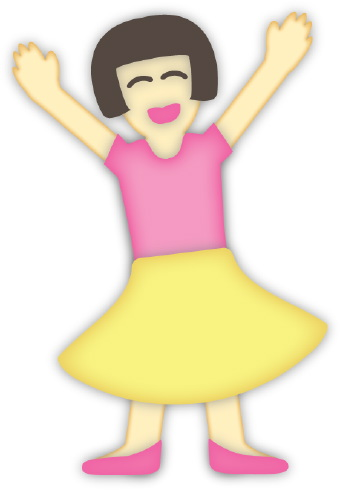 Girl In Red Shirt And Black Skirt Clipart.