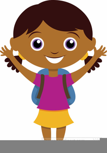 Girl Going To School Clipart.