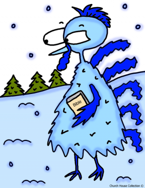 Girl Is Very Cold Clipart.