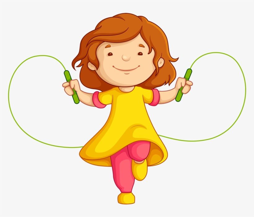 Child Clipart Jumping Rope.