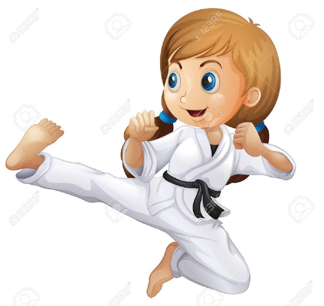 Girl karate clipart 5 » Clipart Portal.