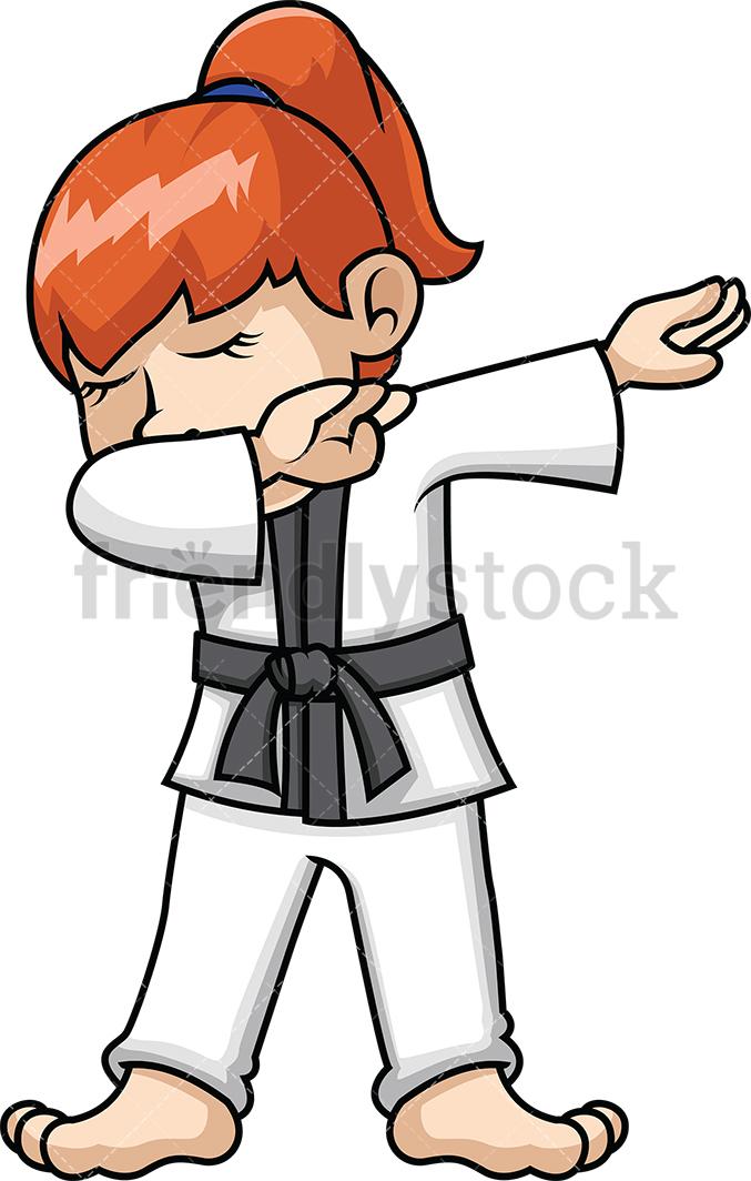 Dabbing Karate Girl.