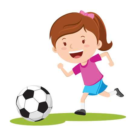 13,290 Girl Soccer Cliparts, Stock Vector And Royalty Free Girl.