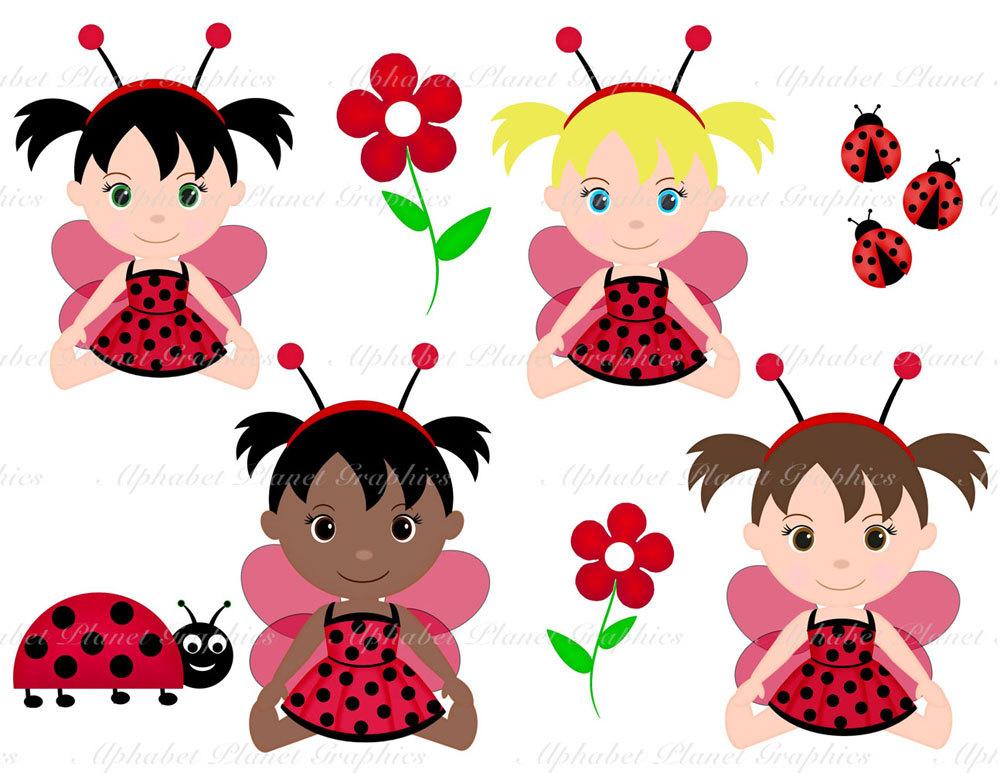 Ladybug Girl Clipart.