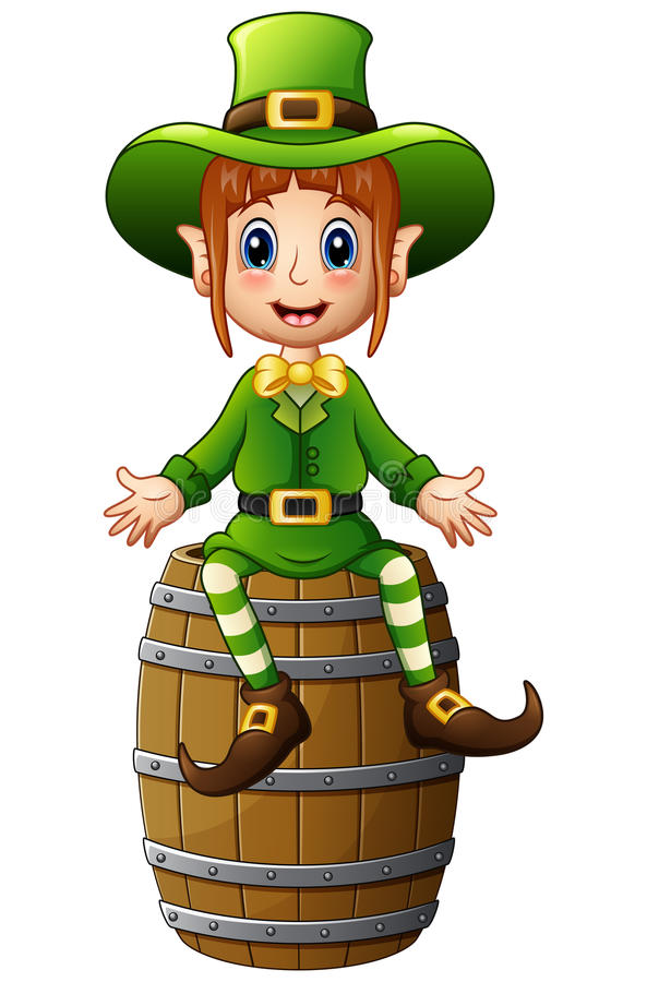 Girl Leprechaun Stock Illustrations.