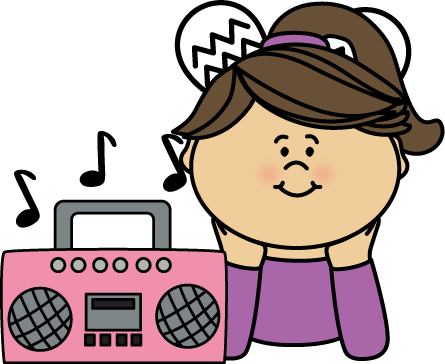 Girl listening to music clipart clipart images gallery for free.