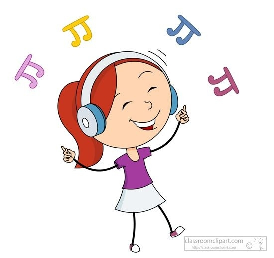Listening To Music Clipart Music Girl Happy Dancing While Listening.