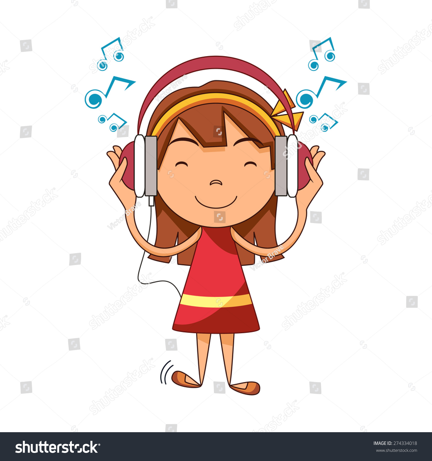 Girl listening to music clipart 3 » Clipart Station.
