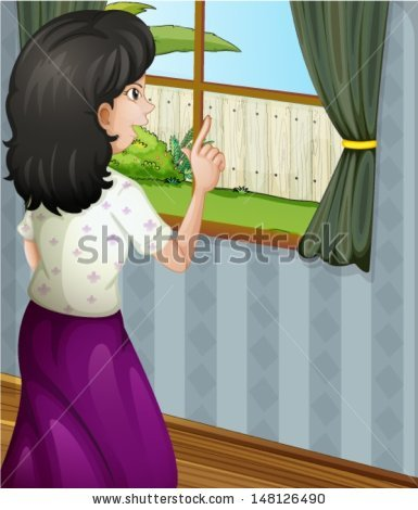 Person Looking Out Window Clipart (63+).