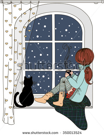 Girl Looking Out The Window Clipart (70+).