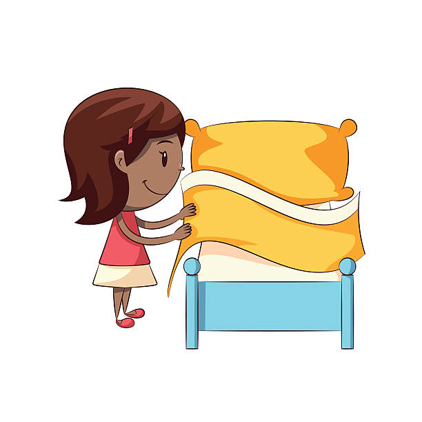 Girl making bed clipart 1 » Clipart Station.
