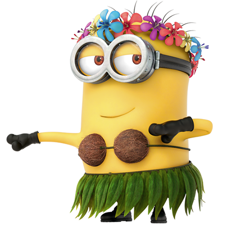 Beautiful hula girl clipart minion symbols emoticons.