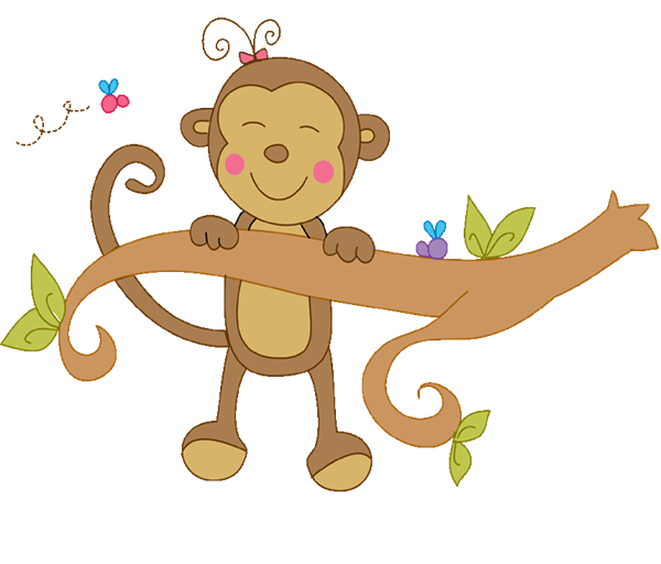 Girl Monkey In A Tree Png & Free Girl Monkey In A Tree.png.