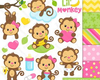 Monkey clipart.