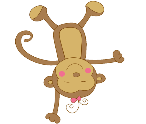 Free Clip art of Baby Monkey Clipart #659 Best Baby Girl Monkey.