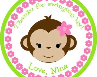 Baby Girl Monkey Clip Art.