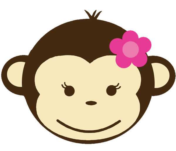Monkey Clipart Head Girl.