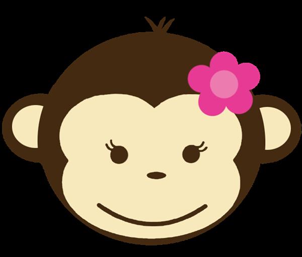 Monkey Clipart Head Girl.