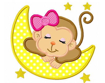 Girl Monkey Face Clipart.
