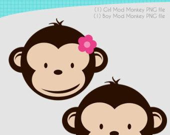 Girl Monkey Face Clipart.