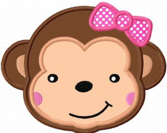 Girl Monkey Clipart.