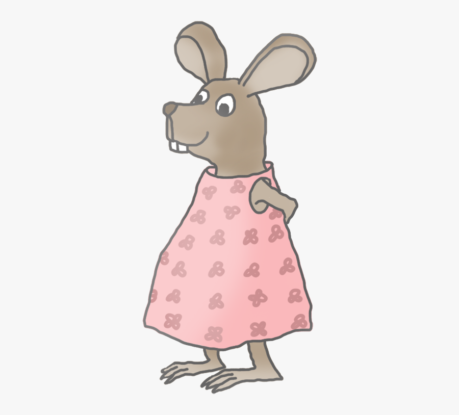 Little Girl Mouse Clip Art.