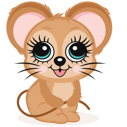 Cute Mouse Svg Scrapbook Cut File Cute Clipart Files.