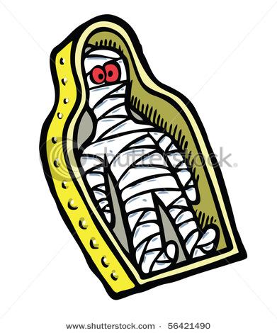 Mummy Sarcophagus Clipart.