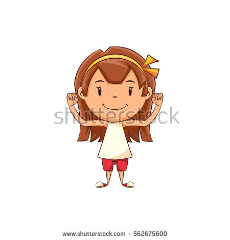 Girl Showing Muscles Stock Photos, Royalty.