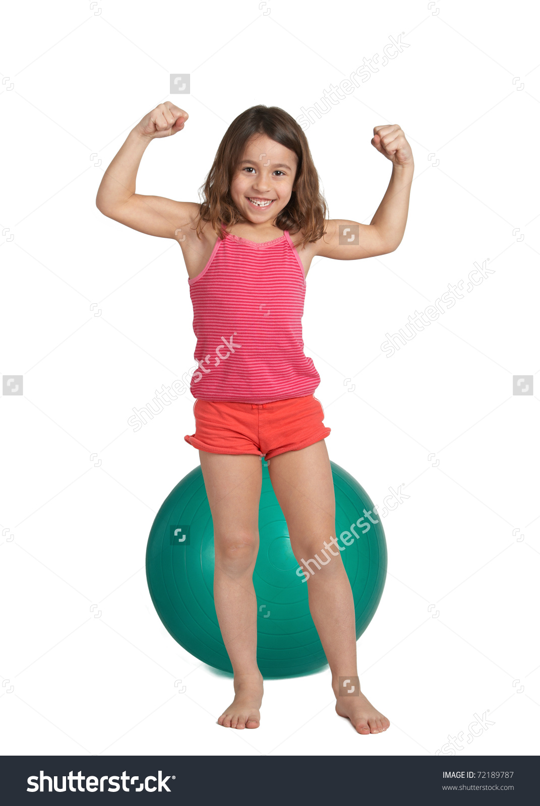 Showing post & media for Little girl flexing muscles cartoon.