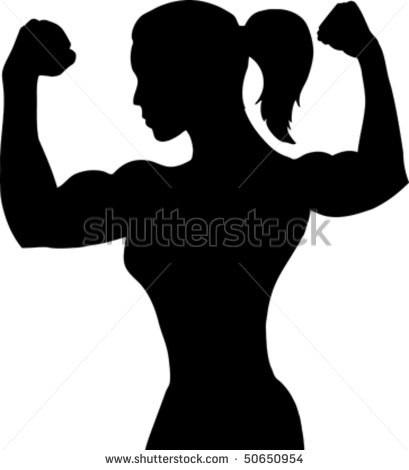 Girl Muscle Clipart.