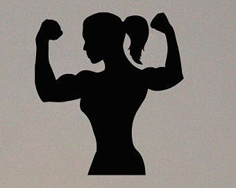 Muscle Girl Clipart.