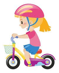 Image result for girl on scooter clipart.